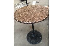 TALL POSER TABLES. WITH FABULOUS COPPER FLAKE TOPS.
