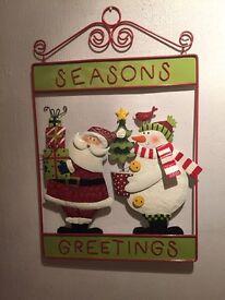 Next Santa and Snowman wall plaque