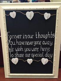 Wedding Memory Photo Board £25