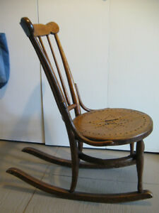 Old, wooden rocking chair