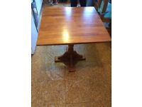 Square pine table