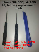 iphone 3G, 3GS,  4, AND  4S, battery replacement tools