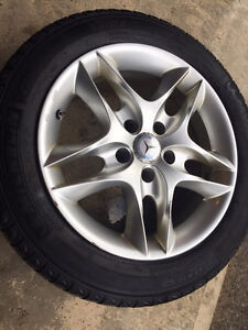 4 Michelin X-Ice 205/55R16 Winter Snow Tires on Alloy Rims Kitchener / Waterloo Kitchener Area image 2