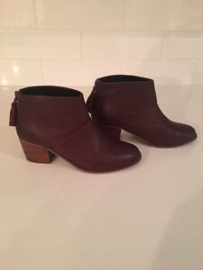 Authentic TOMS Genuine Leather Ankle Booties - EUC St. John's Newfoundland image 2