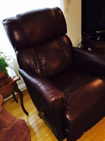 Genuine LazyBoy Leather Recliner
