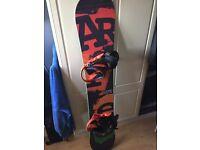 Artec novus 162 Snowboard with bindings