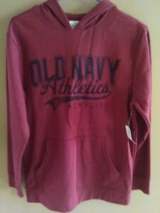 Boy's Old Navy burgundy hoodie sweater Size 14 XL New with tags London Ontario image 1