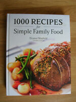 """Recipes, """"1000 Recipes for Simple Family Food"""" hard cover"""