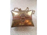 Unusual brass purse