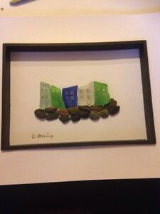 HANDMADE SEAGLASS PICTURES