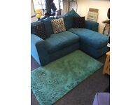 Teal corner sofa £195 includes delivery