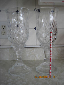 Two 11 1/2 inch tall Crystal Candle Holders St. John's Newfoundland image 1