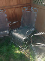 Lovely, metal garden chairs- Set of 4