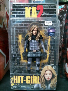 """NECA's KickAss 2, Hit Girl Unmasked 7"""" Scale Action Figure $15"""