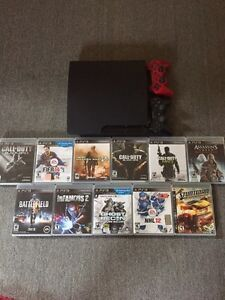 Ps3 Slim 320Gb, 11 jeux, 2 manettes , fillage, comme neuf