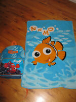 Finding Nemo backpack and blanket