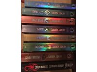 Eight books in the Alex Rider series by Anthony Horowitz