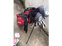 Mizuno And Callaway Golf Clubs In a Mizuno Bag