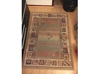 Moroccan style Medium size rug! Real Lamb piled wool. Super comfy carpet