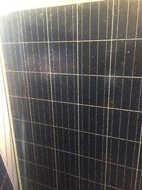 Solar panels damaged