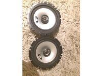 "Alpine 6"" 220w car speakers (parcel shelf door sub amp stereo)"
