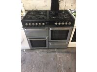 Black range gas and electric ovens cooker 100cm