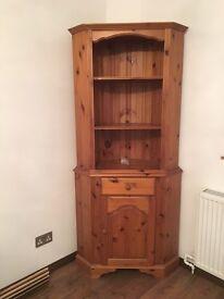 Antique pine corner dresser unit