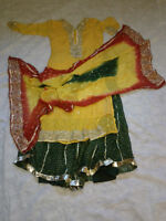 Party Dress Yellow and Green
