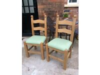 2 dining table chairs (delivery available)