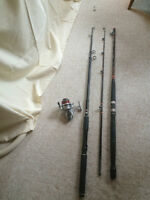 2 fishingsets inclusive 2 rods 7 ft and 8 ft