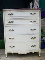GORGEOUS FRENCH PROVINCIAL TALLBOY DRESSER *** CAN DELIVER