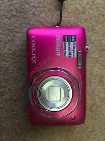 Nikon Coolpix pink digital camera