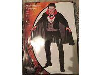 Vampire costume , never been worn , still in packaging