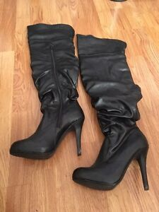 Over the knee high heel stiletto boots