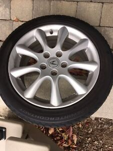 """Acura 17"""" OEM mag with Continental ExtremeWinterContact tires"""