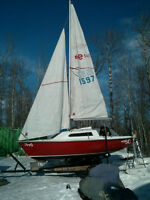 Sailboat with Trailer - Edel 540