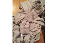 Caboo close organic grey baby carrier