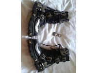 New Rock Boots, Leather, Size 7. Barely used as per photographs. Mens/Womens.