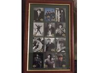 Beatles Framed Collector Cards