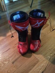 Alpine stars leather motorcycle boots