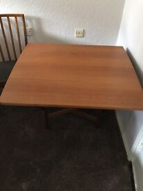 Fold away table and four chairs