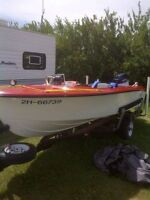 14 ft boat with 70 HP Evinrude