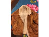 Genuine sheepskin shearling jacket