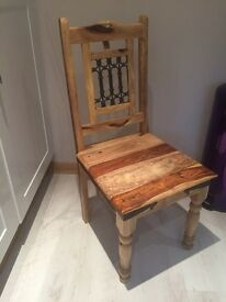 Brand new Solid jali chair