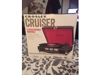 Boxed Crosley cruiser turn table / record player