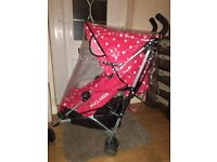Maclaren Limited Edition Cath Kidston Red & White Spotted Stroller