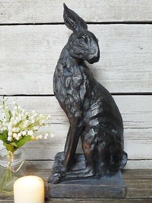 Vintage Outdoor Garden Statues Ornament Animal Hare Rabbit Sculpture Large 48cm