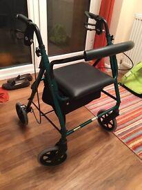 Elderly mobility dual-purpose walker