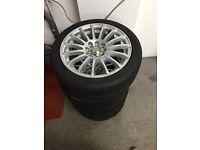 15inch wolfrace alloy wheels
