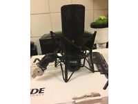 Rode NT-USB Studio Gaming Microphone With Stand and Clamp Music Creation Recording Equipment